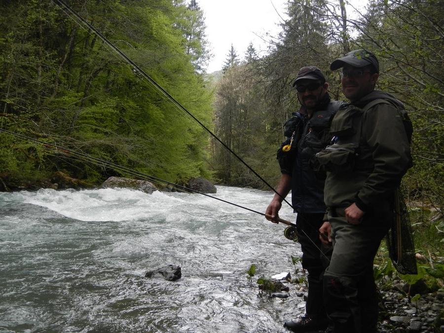 Pêche sur la Dranse de Morzine - Mai 2013